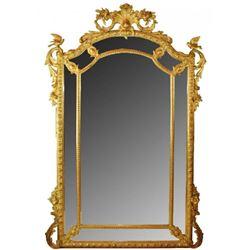 19thc Large Gilt Louis XV Mirror