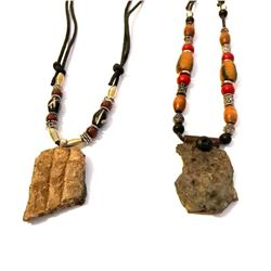 Ancient Native American Pottery Shard Adjustable Necklaces