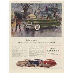 1948 Packard Rain Or Shine Magazine Ad
