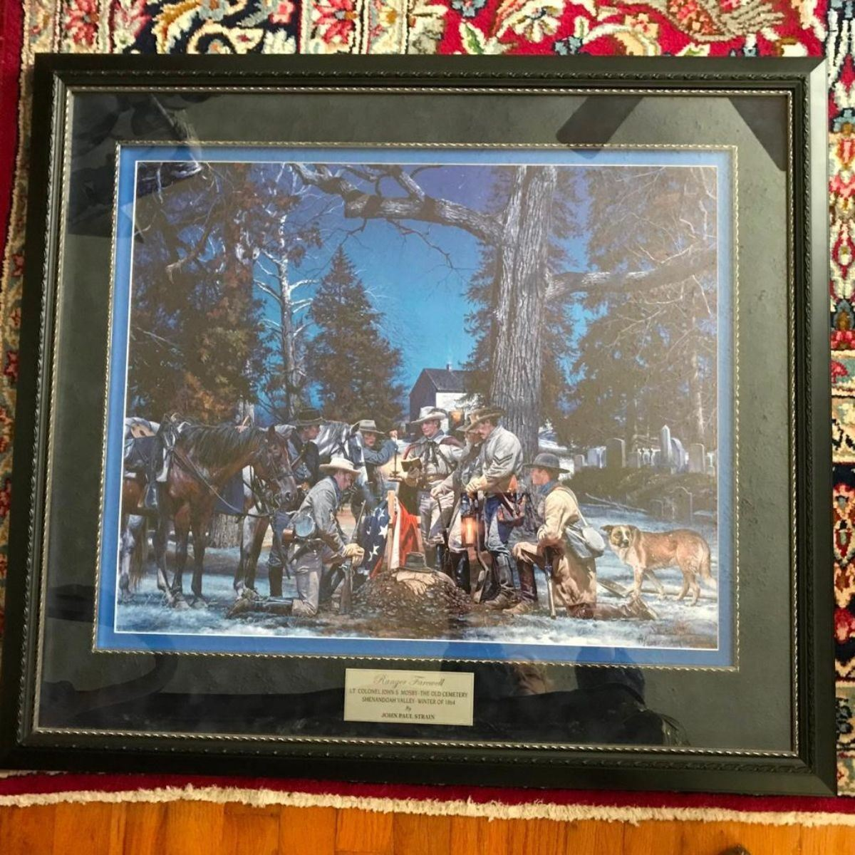 John Paul Strain/'s RANGER FAREWELL Limited Edition Lithographic Print Signed