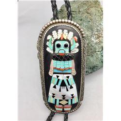 Exquisite Zuni Inlay Bolo Tie - Etsate