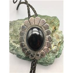 Sterling Silver and Onyx Bolo Tie