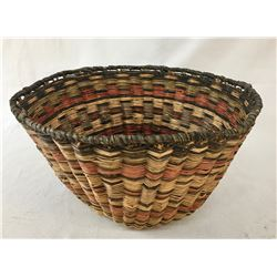 Vintage Hopi Wicker Peach Basket
