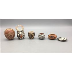 Six Miniature Pueblo Pots