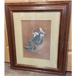 Original Artwork of Native American Ropers