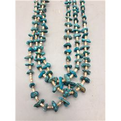 Fine 3-Strand Turquoise and Heishi Necklace
