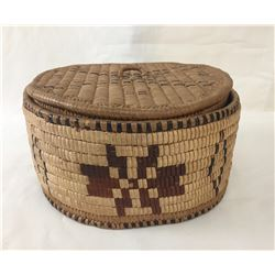 Lidded Salish Basket