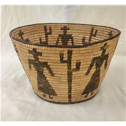 Vintage Figural Pima Basket