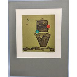 Charles Loloma Lithograph With Paperwork