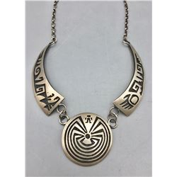 Vintage Man in the Maze Overlay Necklace