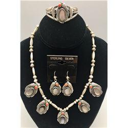 Roy Vandever Necklace, Bracelet, and Earrings Set