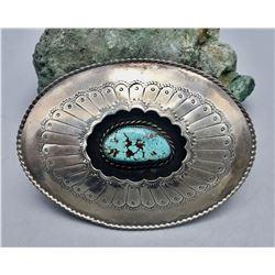 Large Turquoise Belt Buckle