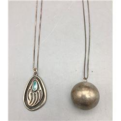 Two Unique Sterling Silver Necklaces