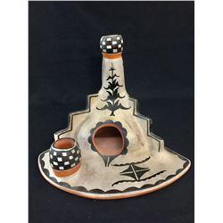Unique Santo Domingo Pottery Chiminea