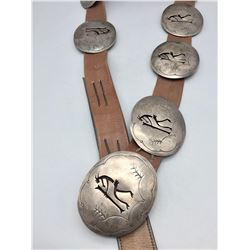 Vintage Kokopelli Shadowbox Concho Belt