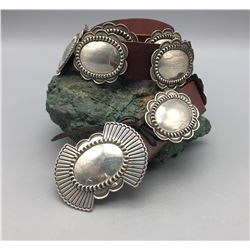 Sterling Silver Concho Belt by Bruce Morgan