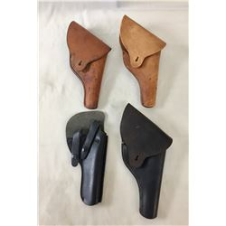 Group of Four Leather Holsters