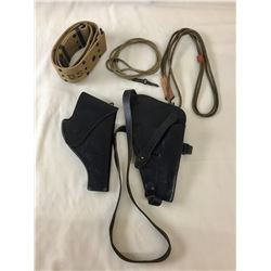 Group of Military Holsters, Belts and Lanyards
