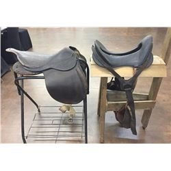 Two Antique Military Saddles