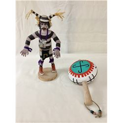 Hopi Kachina and Rattle