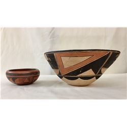 Two Hopi Pottery Bowls