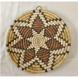 Hopi Coiled Plaque Basket