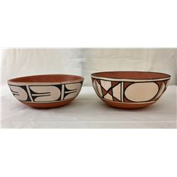 Two Pueblo Pottery Bowls