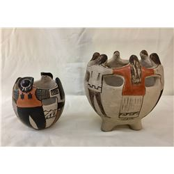 Two Tohono O'Odham Friendship Pots