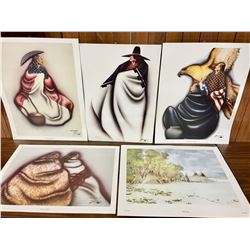 Group of Five Signed Prints