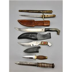 Group of Five Knives