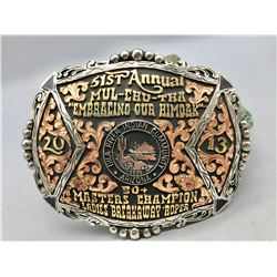 Native American Championship Rodeo Belt Buckle