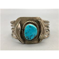 Vintage Turquoise and Sterling Silver Bracelet