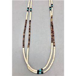 Fine Heishi and Turquoise Necklace