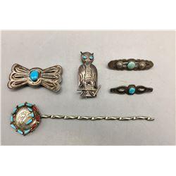 Group of Vintage Pins and Hair Pin