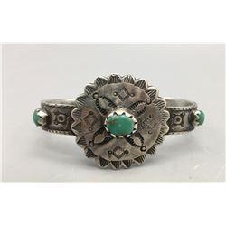 Vintage, Sterling Silver (Ingot) and Turquoise Bracelet