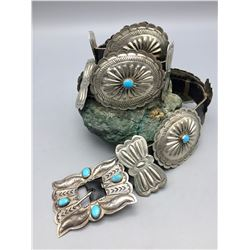 Vintage Concho Belt with Turquoise
