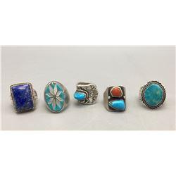 Group of Five Vintage Rings