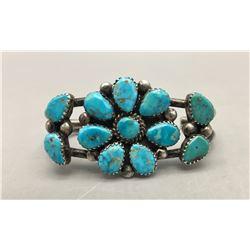 Vintage Child's Turquoise Cluster Bracelet