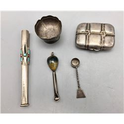 Group of Miscellaneous Boxes, Spoons, Etc.
