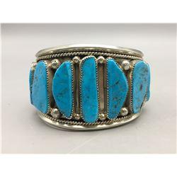 Vintage Nine Stone Turquoise Bracelet