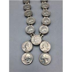 """Quarters"" Squash Blossom Style Necklace"