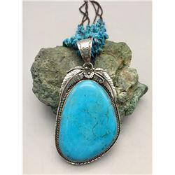 Large Kingman Turquoise Necklace