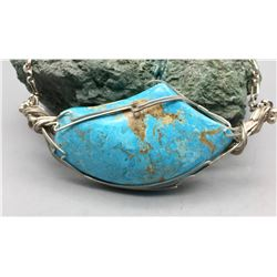 Large Stone Turquoise Necklace
