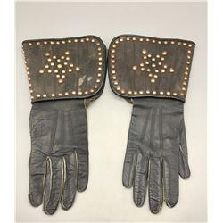 Vintage Spotted Leather Gaunlets
