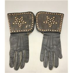 Vintage Spotted Leather Gaunlets