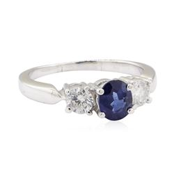 2.01 ctw Sapphire and Diamond Ring - Platinum
