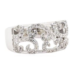 0.58 ctw Diamond Half-Dome Band - 14KT White Gold