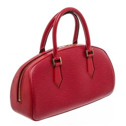 Louis Vuitton Red Epi Leather Jasmine Handbag