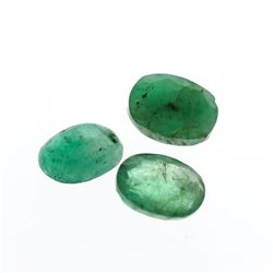 3.88 cts. Oval Cut Natural Emerald Parcel