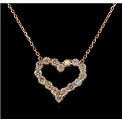 14KT Rose Gold 1.29 ctw Diamond Necklace